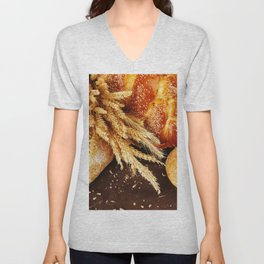 Whole Wheat Unisex V-Neck
