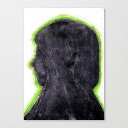 Monoprint woman Canvas Print