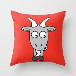 Ooh Zoo – farm-series, Goat Throw Pillow