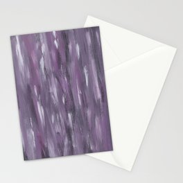 Touching Purple Black White Watercolor Abstract #1 #painting #decor #art #society6 Stationery Cards