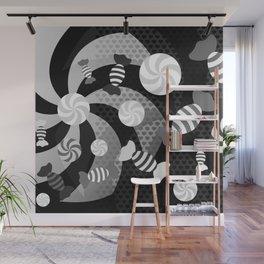 Black and White Sugar Crush Wall Mural