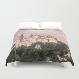 Basilica of Santa Maria la Real of Covadonga (retro) Duvet Cover