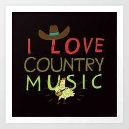 country music Art Print