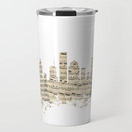 Houston Texas Skyline Sheet Music Cityscape Travel Mug