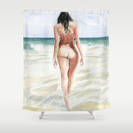 Waves Of Freedom Shower Curtain