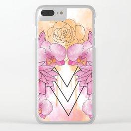 Flower Explosion - Pink/Orange Clear iPhone Case