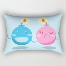 Our love is the bomb Rectangular Pillow