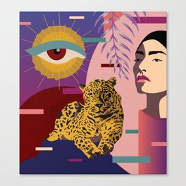 The Big Eye Leopard abstract Canvas Print