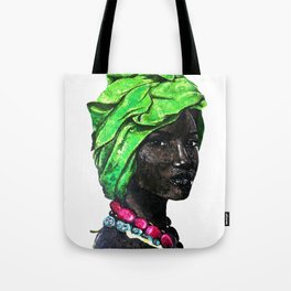 African Beauty Queen Tote Bag