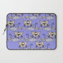 Flying cats in blue Laptop Sleeve