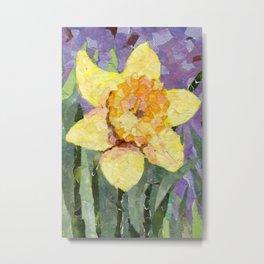 Daffodil in collage Metal Print