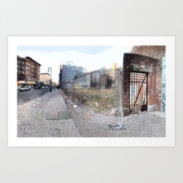 Vacant Lot Door Art Print