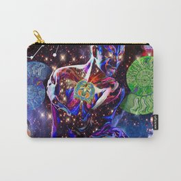 'Stardust Skin Particles, Photon Band & Crystalline Templates Carry-All Pouch