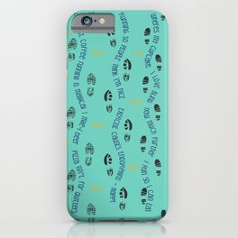 Positive Running Vibes on Turquoise iPhone Case