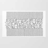 joy division Area & Throw Rugs featuring Furr Division White by Tobe Fonseca