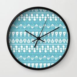 Cycladic Pattern Wall Clock