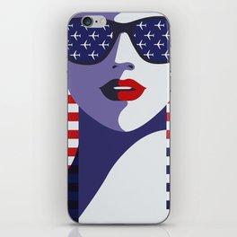 USA Flygirl iPhone Skin