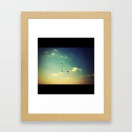 to fly.. Framed Art Print