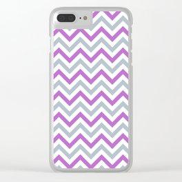Chevron   Purple & Teal Clear iPhone Case