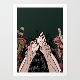 Jungle of the Sleeping Flames Art Print