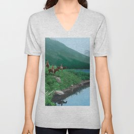 The Hunting Ground - Blackfoot American Indian Unisex V-Neck