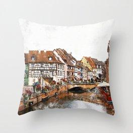 Colmar France Throw Pillow
