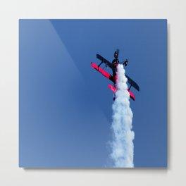 biplane airshow stunt aircraft Metal Print