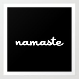 Namaste (Brush) Art Print