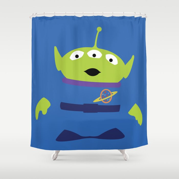 Toy Story Alien Shower Curtain by derfgnay   Society6