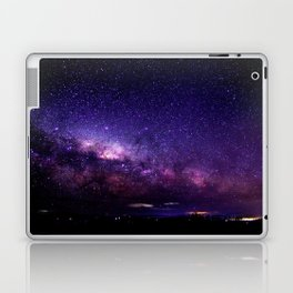 Purple Blue Milky Way Landscape Laptop & iPad Skin