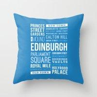 edinburgh Throw Pillows featuring Edinburgh by Just Being Creative