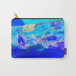 Tropical Electric Blue Abstract Digitally Enhanced Painting Photograph Carry-All Pouch