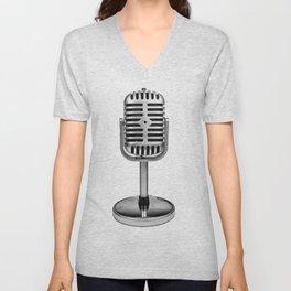 Vintage Microphone Unisex V-Neck