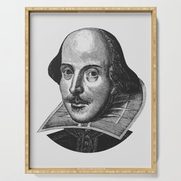 William Shakespeare Portrait Serving Tray