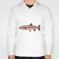 trout Hoodies featuring Rainbow Trout by Karissa Breuer Art