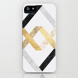Marble and gold squares I iPhone Case