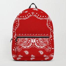 Bandana in Red & White Backpack