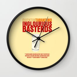 Inglourious Basterds Movie Poster Wall Clock