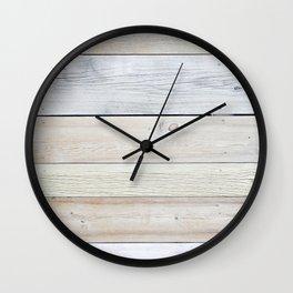 Faded Reclaimed Wood Boards Wall Clock