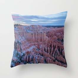 Bryce Point at Sunset Throw Pillow