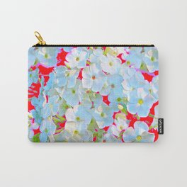 MODERN ART RED WHITE FLORAL GARDEN Carry-All Pouch