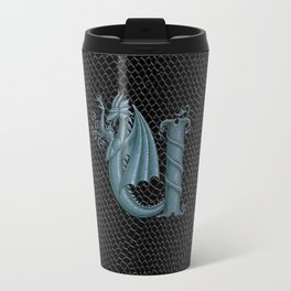 "Dragon Letter U, from ""Dracoserific"", a font full of Dragons Travel Mug"