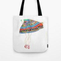 boho Tote Bags featuring Boho by Rayna Sevilla