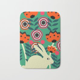 Little bunny in spring Bath Mat