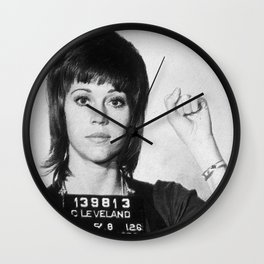 Jane Fonda Mug Shot Vertical Wall Clock