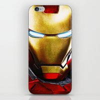 iron man iPhone & iPod Skins featuring IRON MAN IRON MAN by Smart Friend