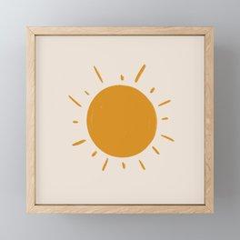 painted sun Framed Mini Art Print