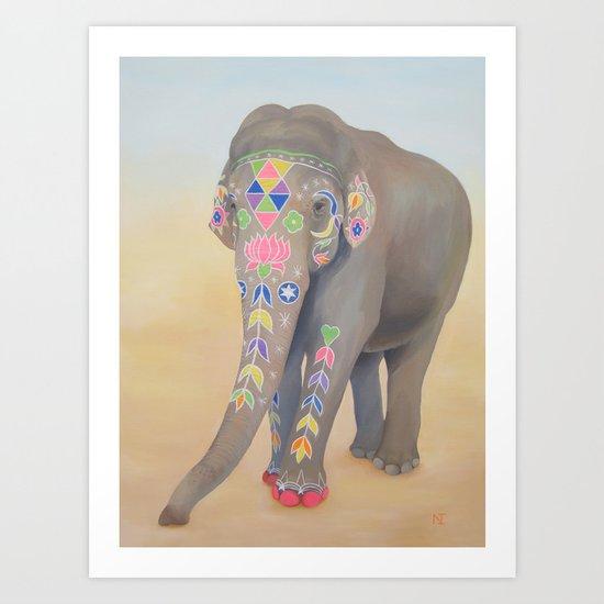 Painted Lady, Sujatha Art Print