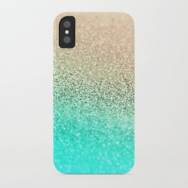 GOLD AQUA iPhone Case
