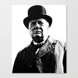 Abstract Portrait of Winston Churchill 1942 2 Canvas Print